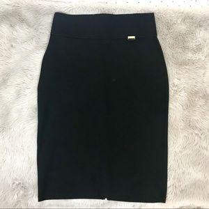Calvin Klein High-waisted Black Pencil Skirt M